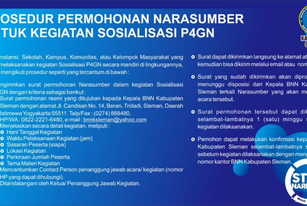PROSEDUR PERMOHONAN NARASUMBER SOSIALISASI P4GN