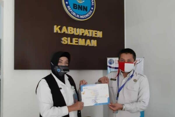 BNNK Sleman Mendapatkan Peringkat III Terbaik Kategori Kinerja Pelaksanaan Anggaran Oleh KPPN Yogyakarta