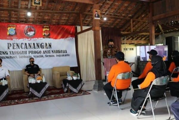 Pencanangan Kampung Tangguh Progo Anti Narkoba.